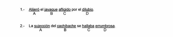 examen ortografía guardia civil